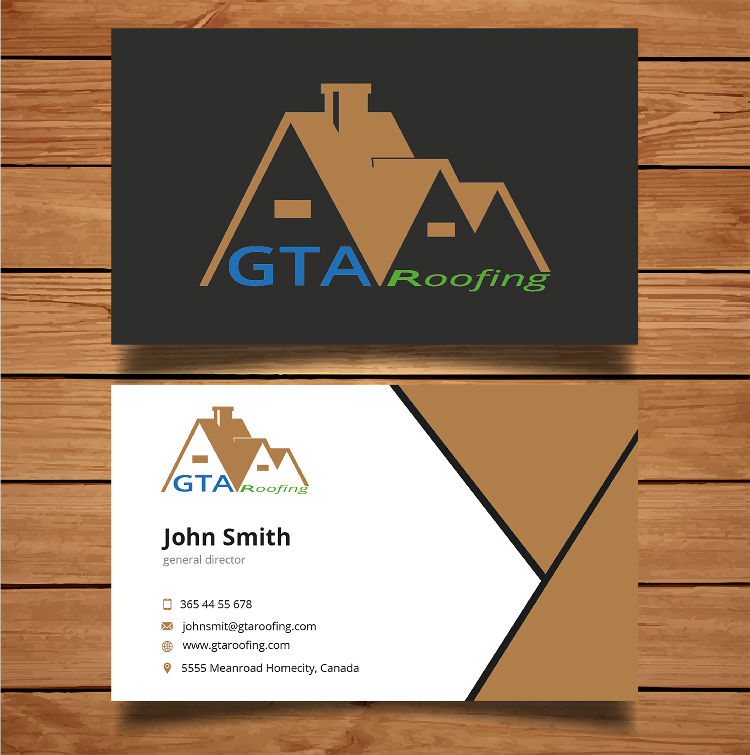 business card design by tanama creations for gta roofing design 14004521 - Roofing Business Cards