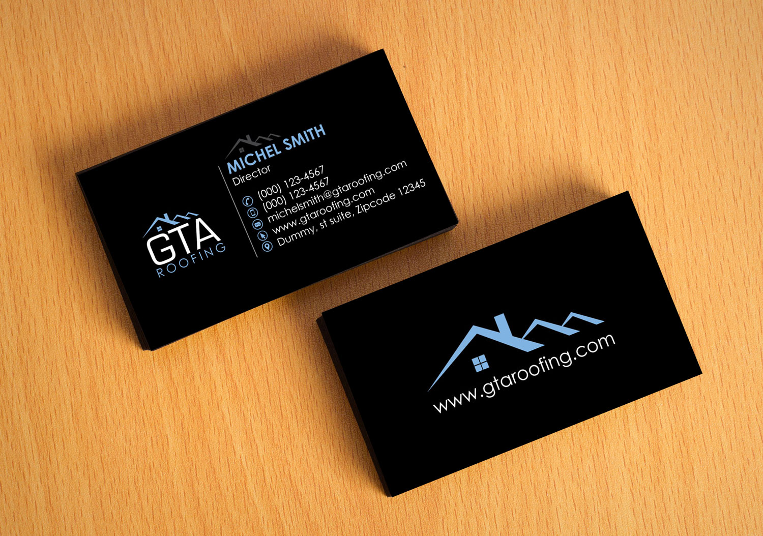 Beautiful Roofing Business Cards Pictures Inspiration - Business ...
