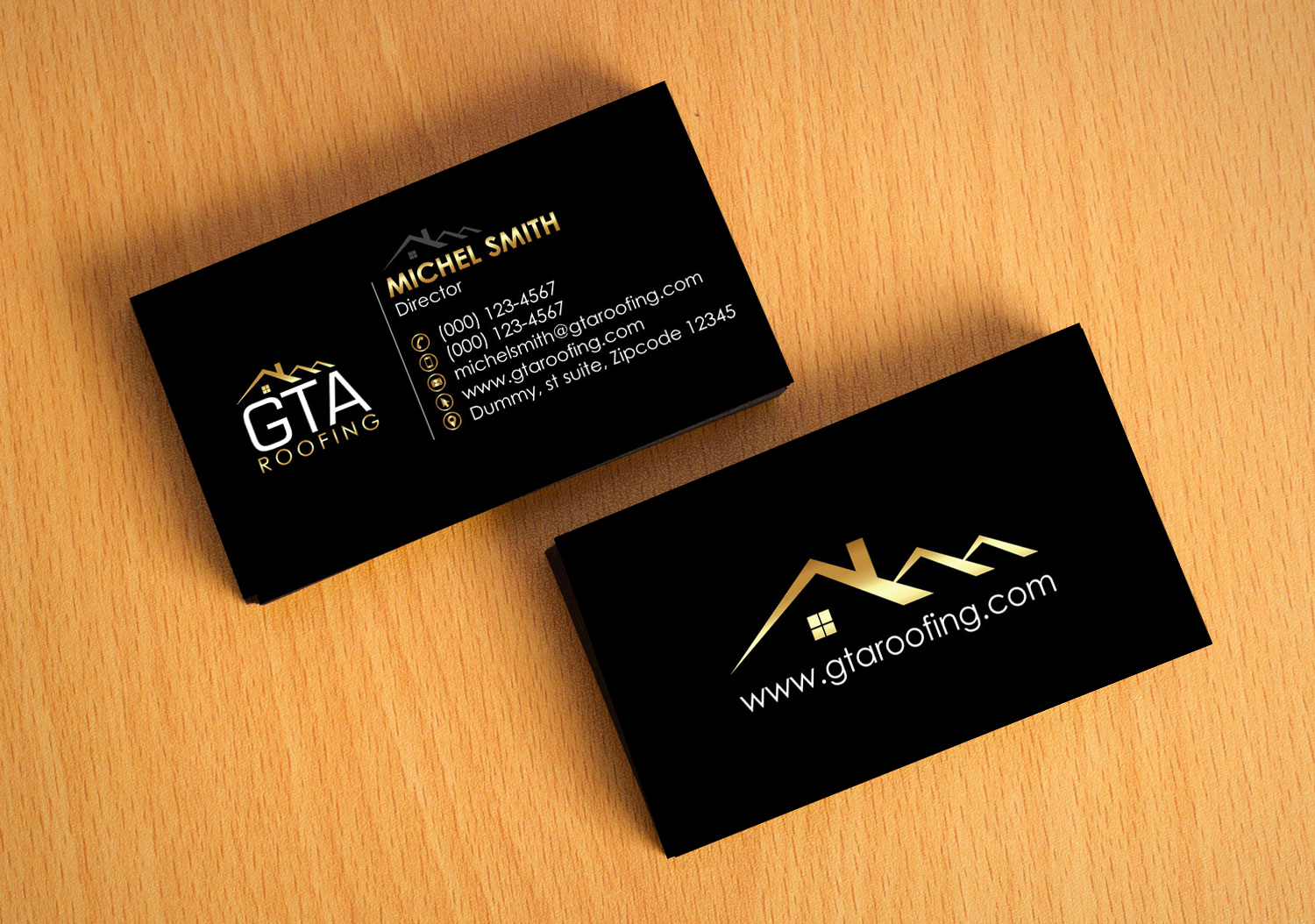 business card design by logooffers for gta roofing design 13999645 - Roofing Business Cards
