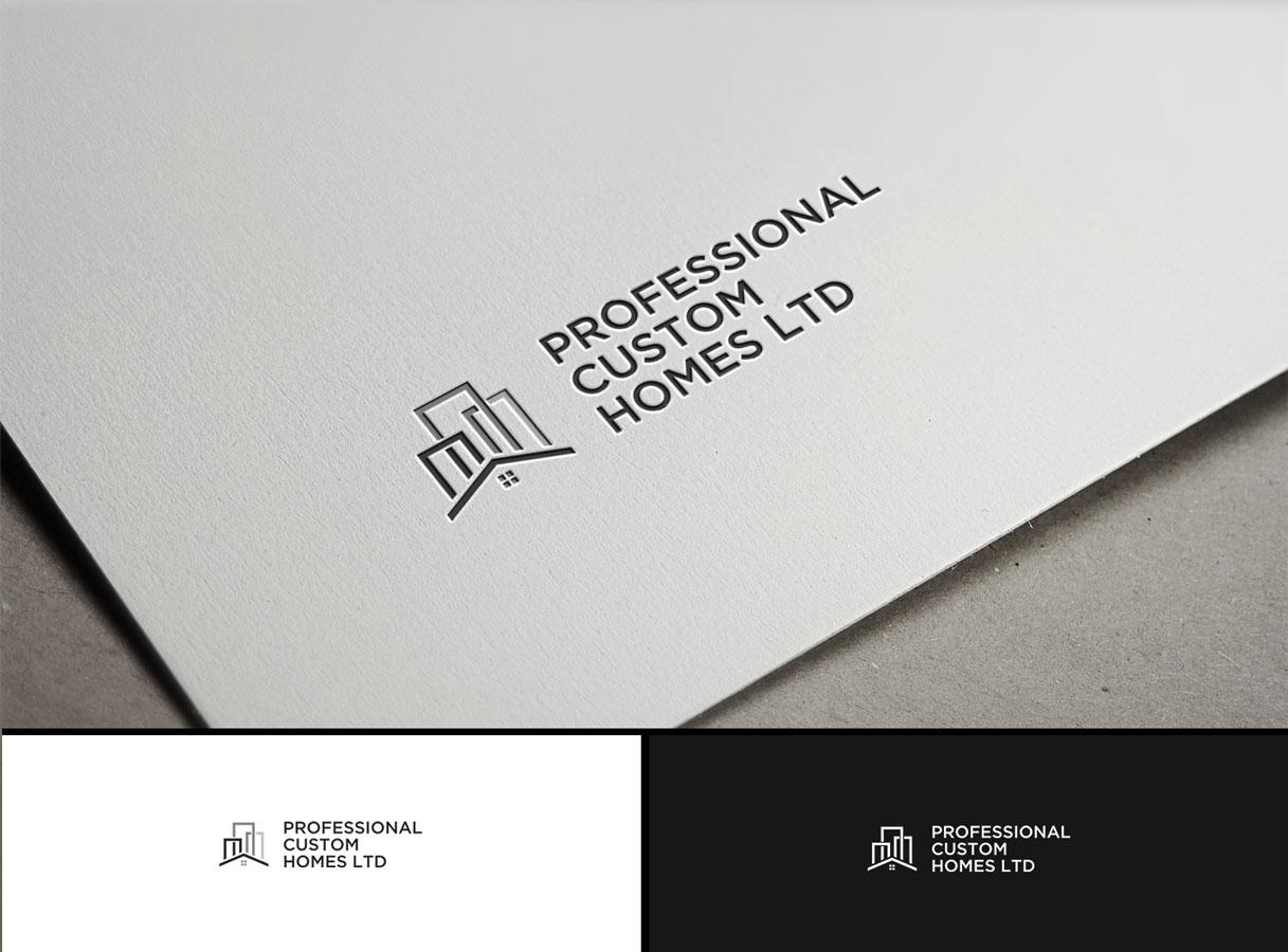 Modern, Upmarket, Home Builder Logo Design for Professional Custom ...