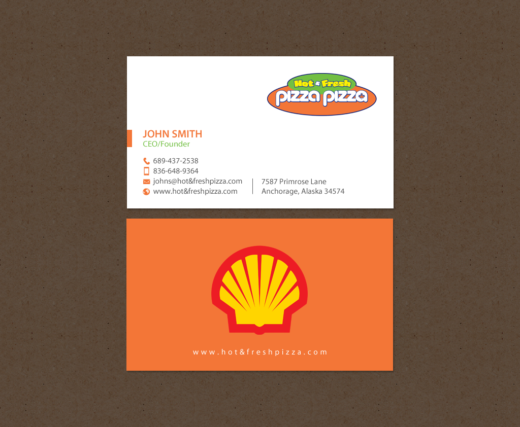 Serious modern restaurant business card design for shell gas business card design by chandrayaaneative for shell gas station design 14063962 colourmoves