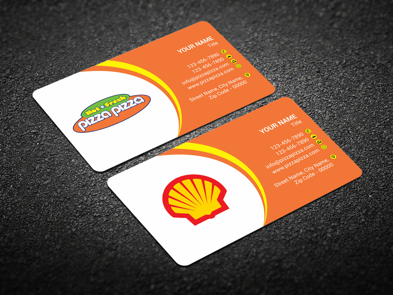 Serious modern restaurant business card design for shell gas business card design by madhuraminfotech for shell gas station design 14105448 colourmoves