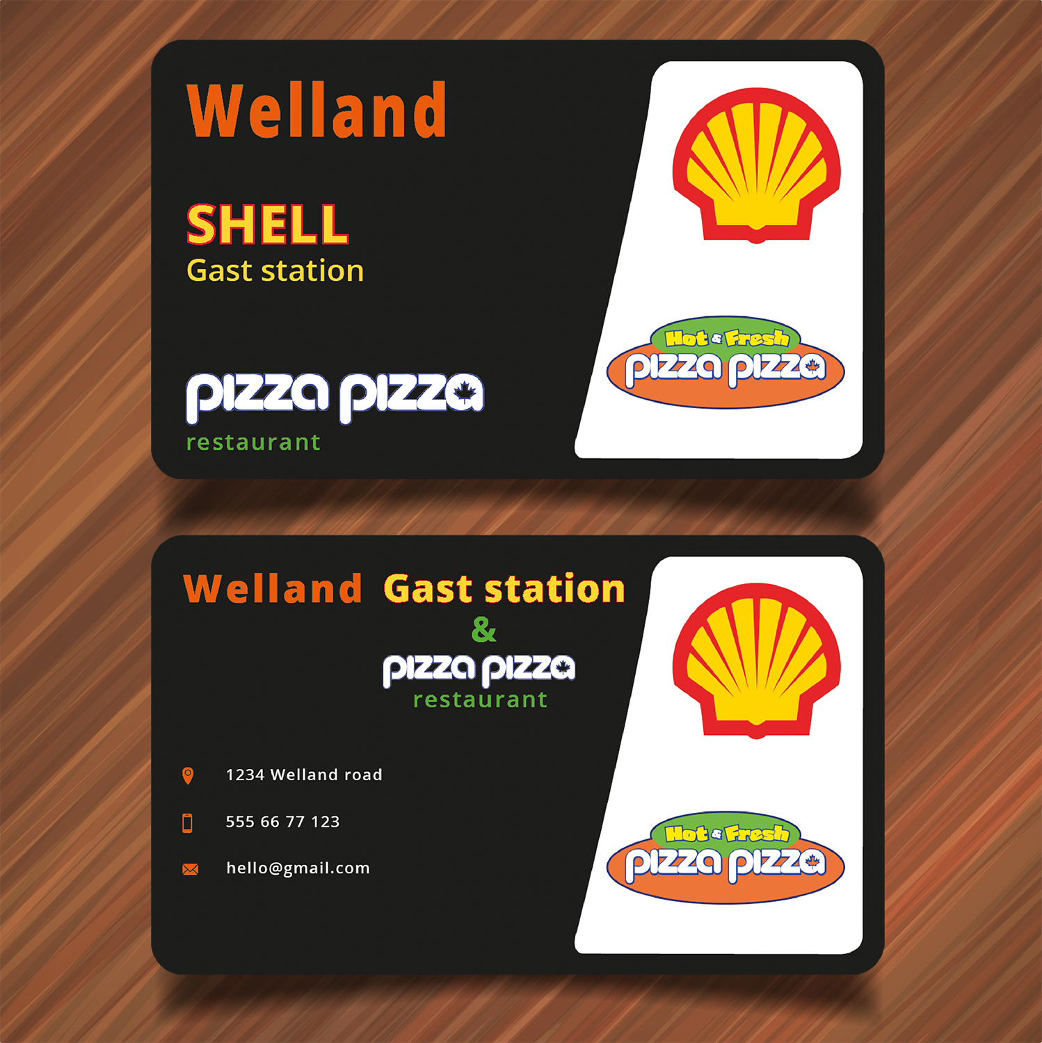 serious modern business card design for shell gas station by