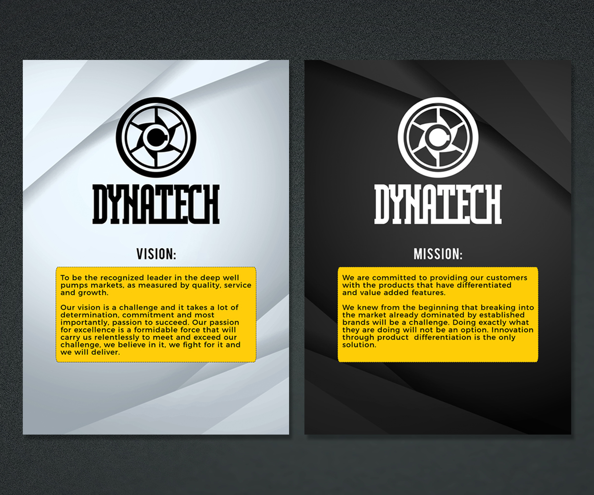 elegant professional it professional poster design for dynatech