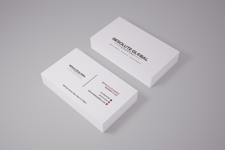 Serious professional business card design for resolute global business card design by pawana for classy business card that means business needed design colourmoves