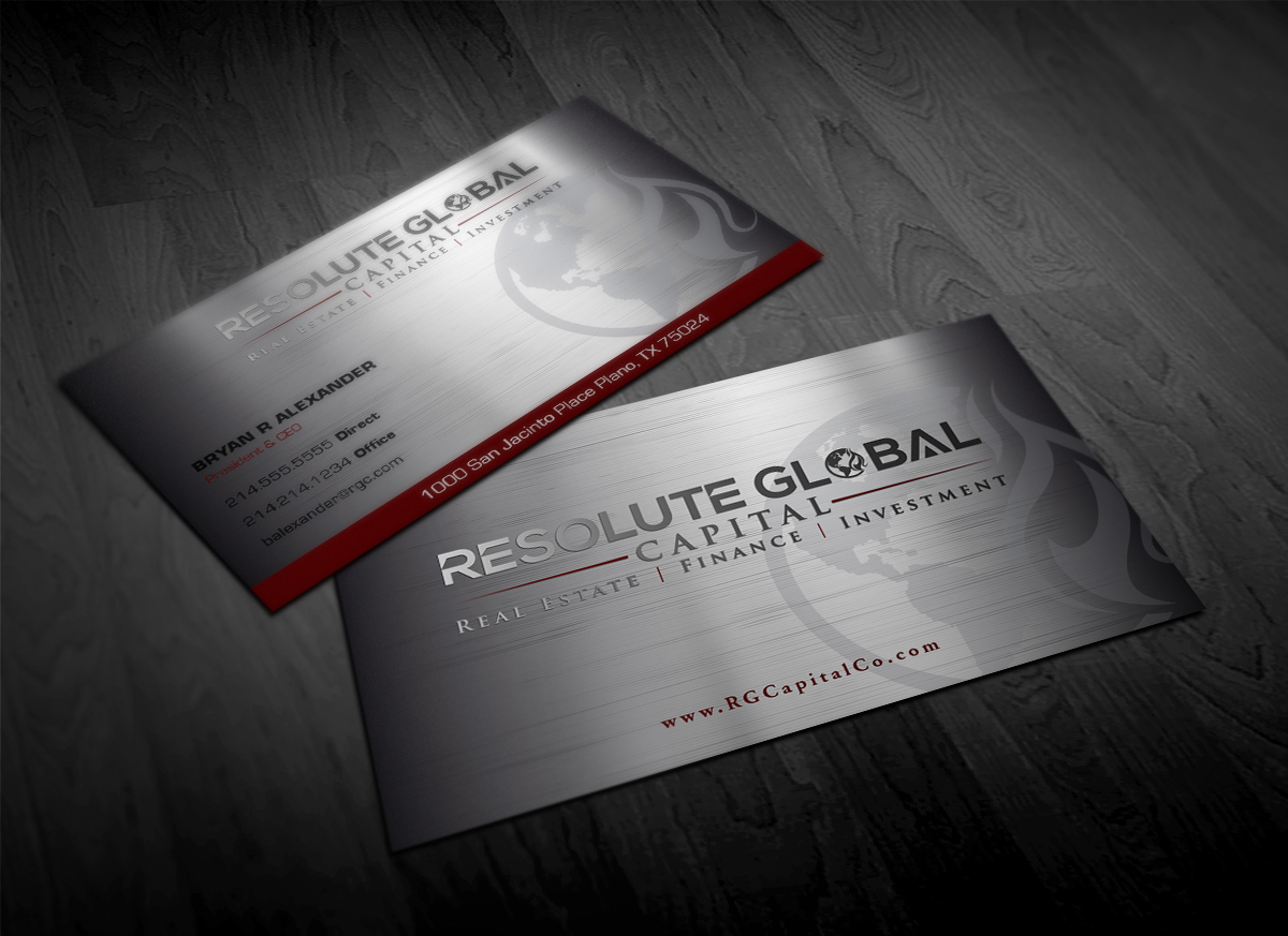 Serious, Professional, Business Business Card Design for resolute ...