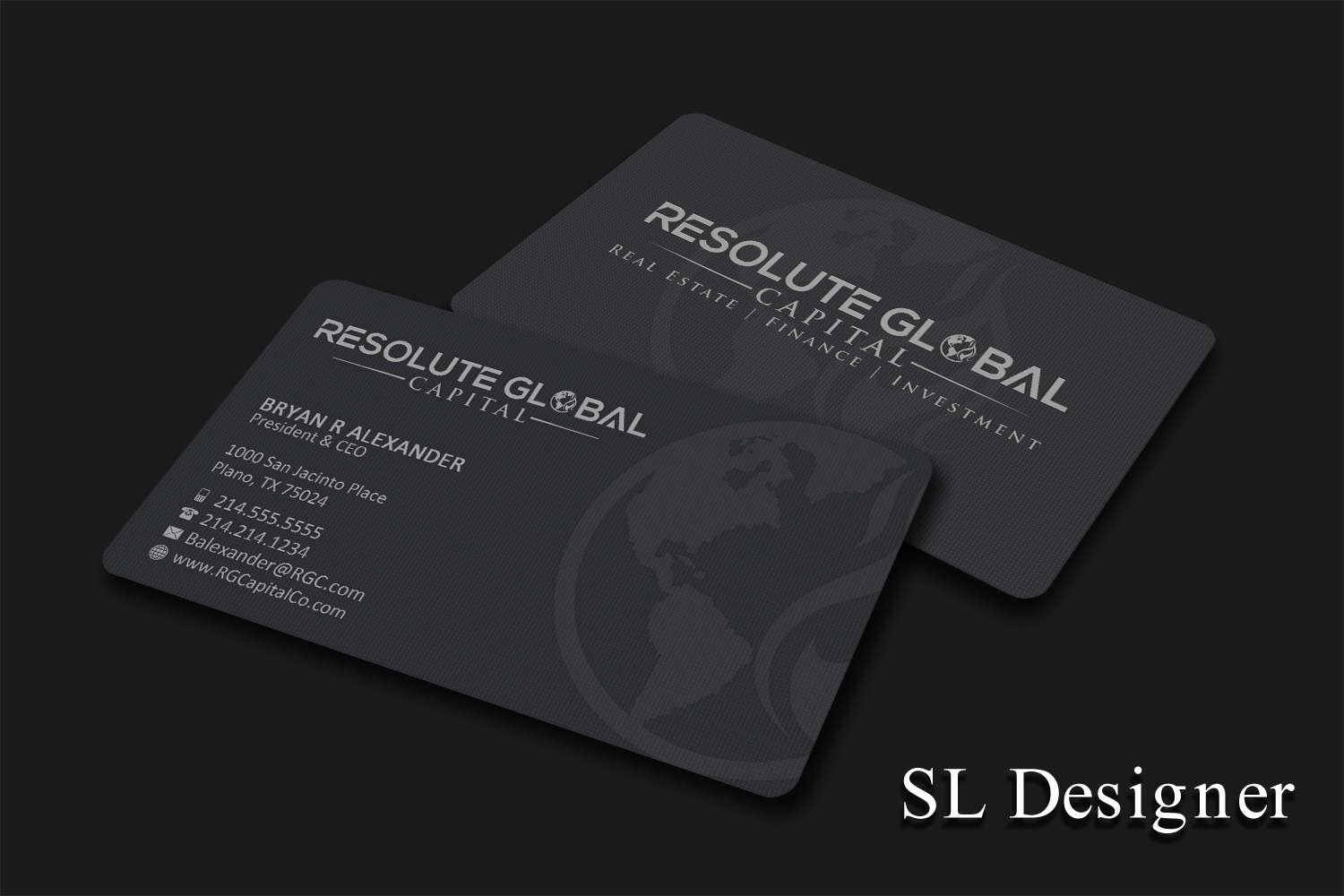 Serious, Professional Business Card Design for resolute global ...