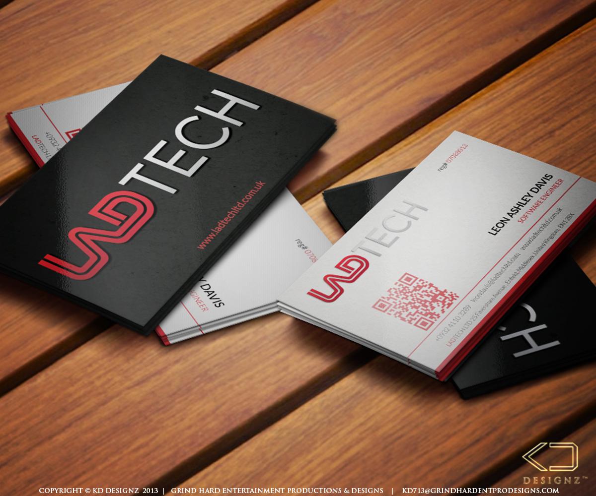 Software business card design for ladtech ltd by kd designz design business card design by kd designz for ladtech ltd design 2568594 reheart Image collections