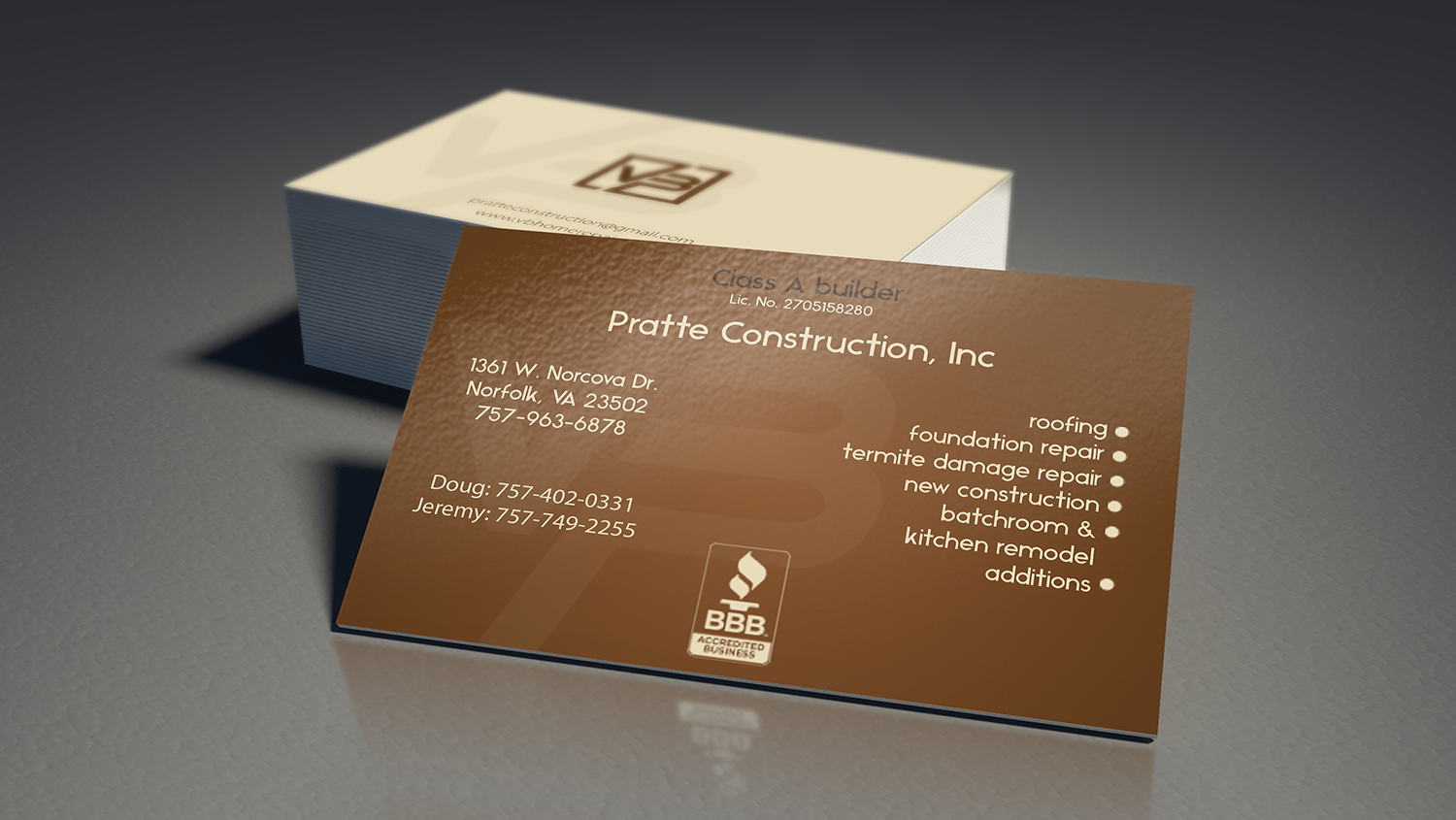 11 bold business card designs residential construction business business card design by nafizrahat for this project design 14343088 reheart Image collections