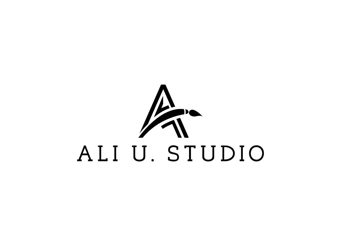 Elegant Playful Paint Logo Design For Ali U Art Studio Or Ali U Studio By Creative Bugs Design 14015993