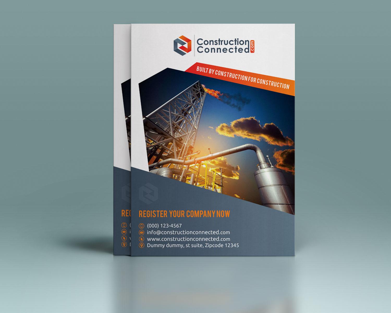 modern professional construction flyer design for brown bag media