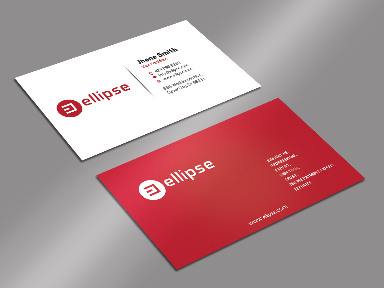 Upmarket, Serious, Startup Business Card Design for Ellipse by ...