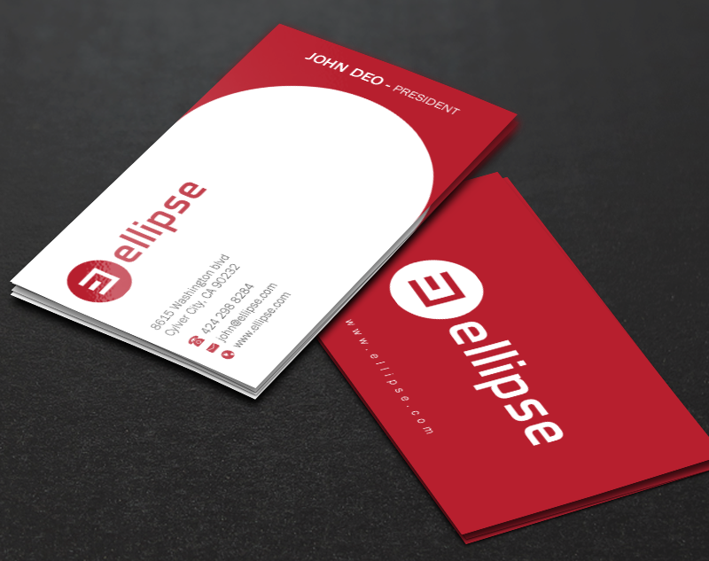 Upmarket, Serious, Startup Business Card Design for Ellipse by Brand ...
