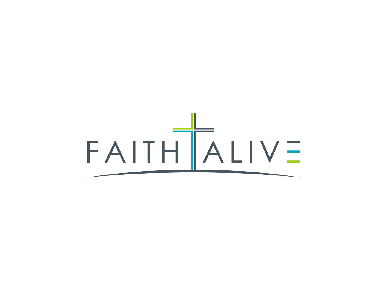 modern personable christian logo design for faithalive