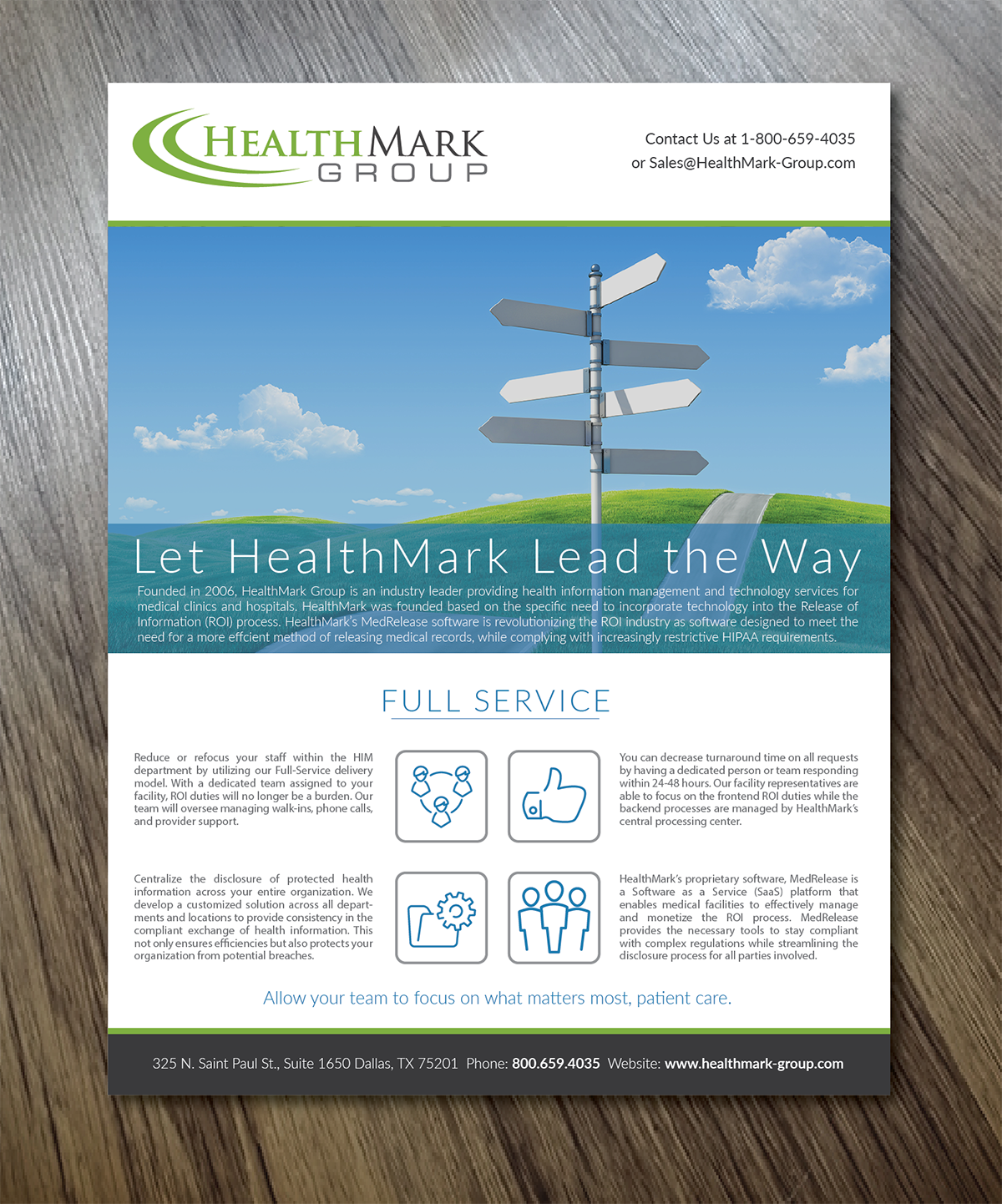 Professional, Serious Flyer Design for HealthMark Group by ...