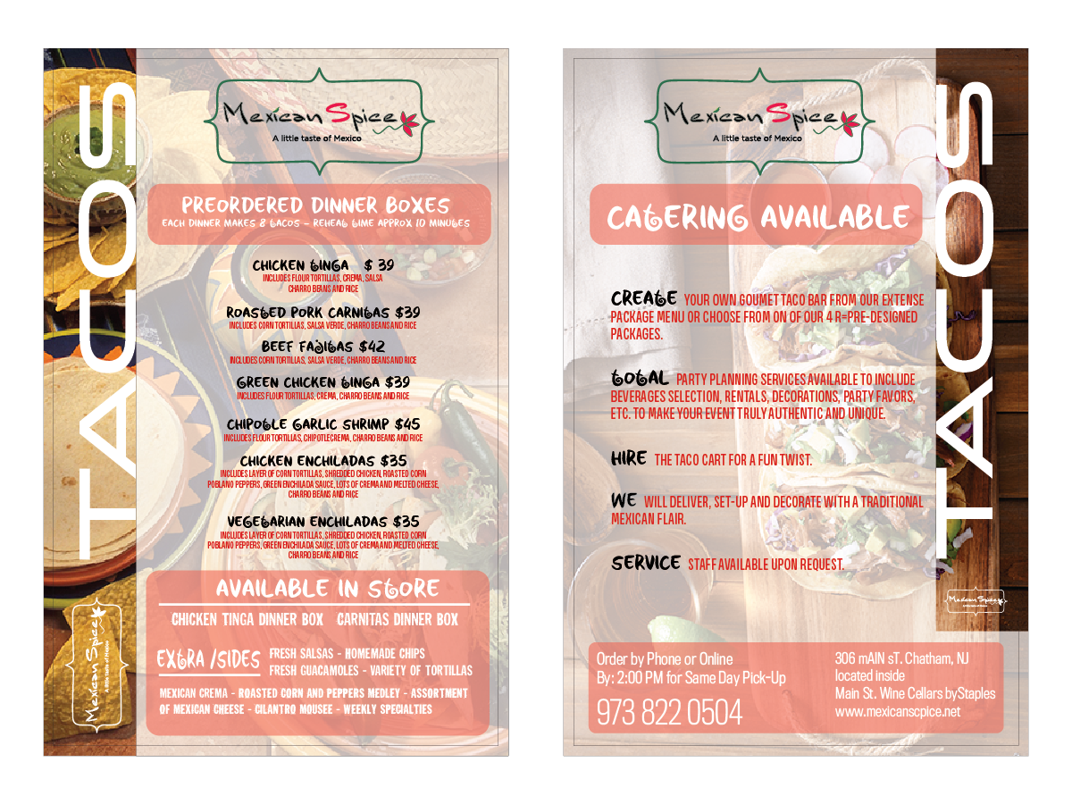 Playful, Modern, Catering Flyer Design for a Company by