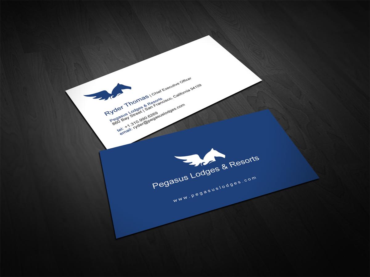 20 business card designs business business card design project for business card design by dirtyemm for pegasus lodges resorts design reheart Choice Image