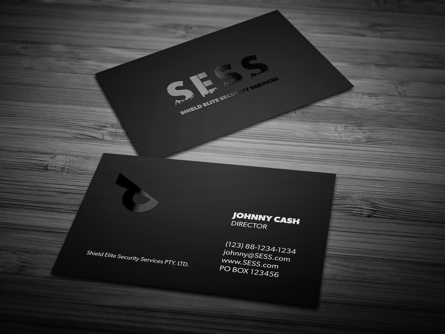 Modern Masculine Business Business Card Design For Sess