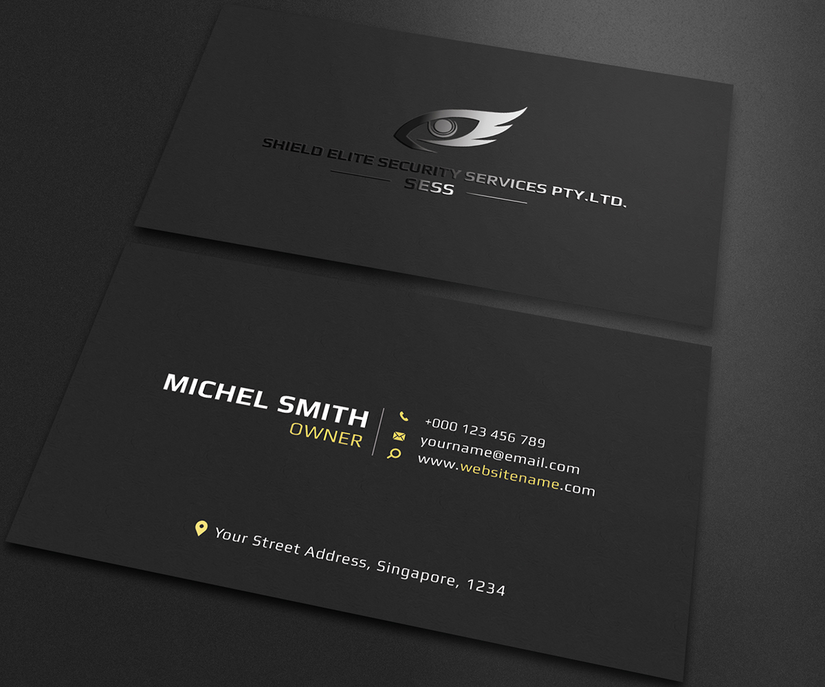 Modern, Masculine Business Card design job. Business Card brief for ...