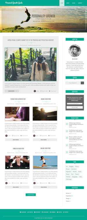 Blog Design by webxvision