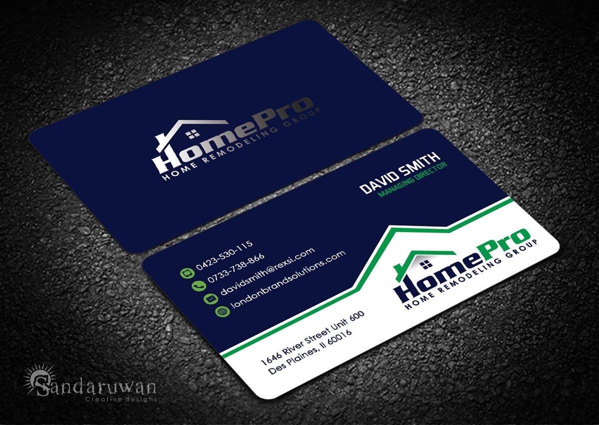 Home Improvement Business Card Design