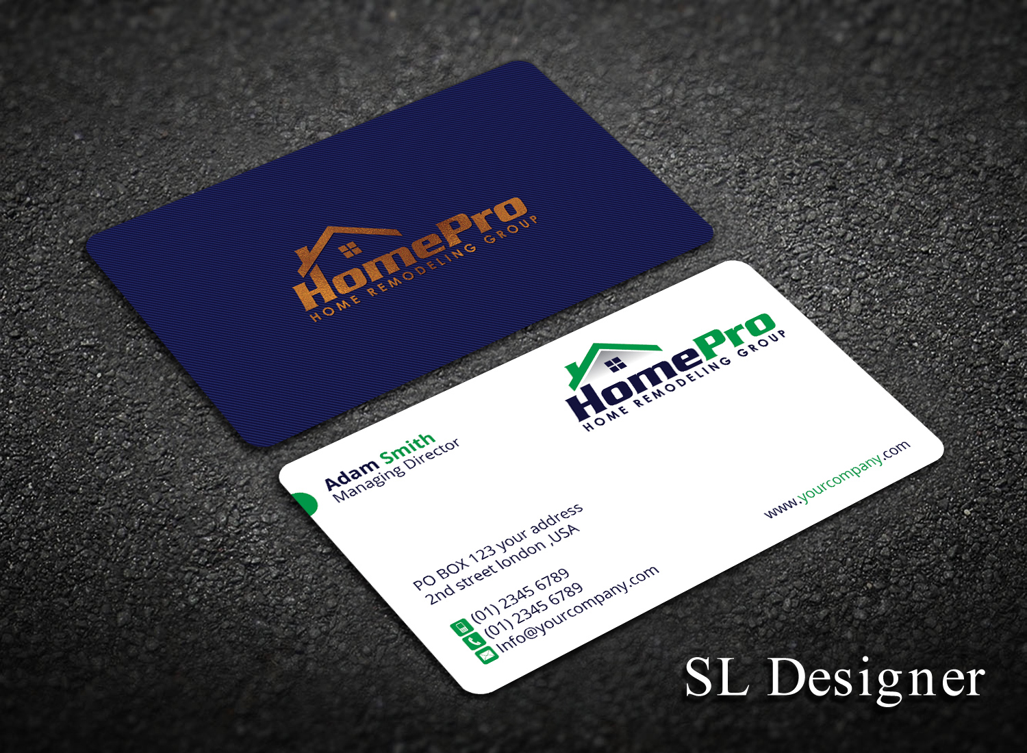 Upmarket elegant home improvement business card design for a business card design by sl designer for this project design 14096550 reheart Image collections