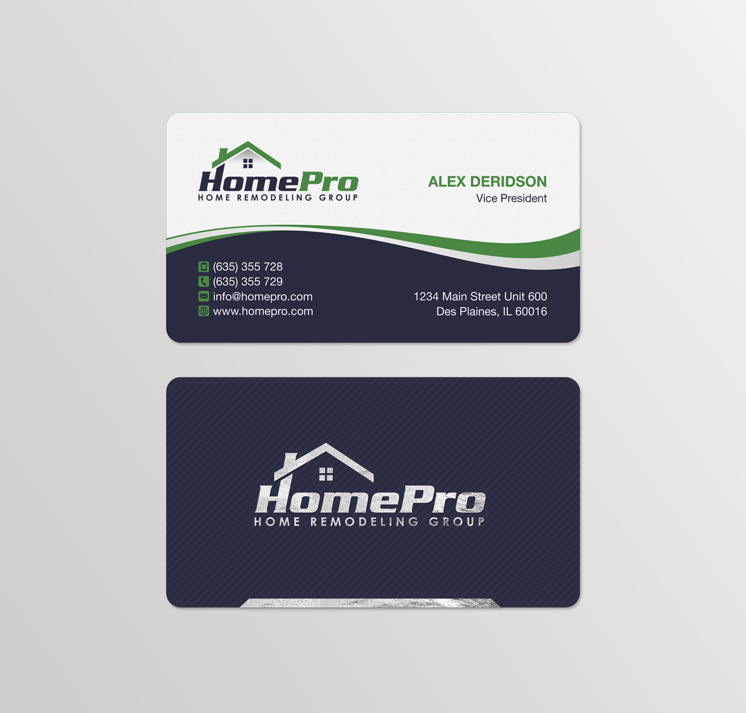 226 upmarket business card designs home improvement business card business card design by logodentity for this project design 14173333 reheart Image collections