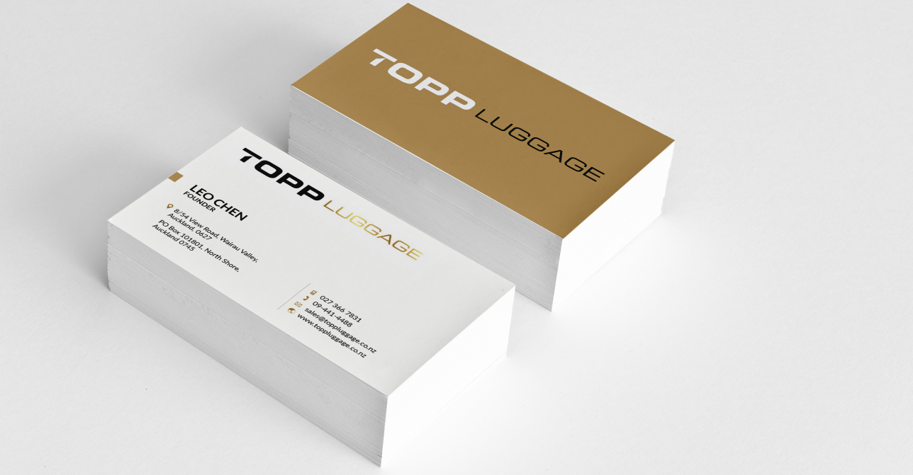Professional elegant business business card design for topp business card design by sarah mathews for topp luggage design 14109448 reheart Gallery