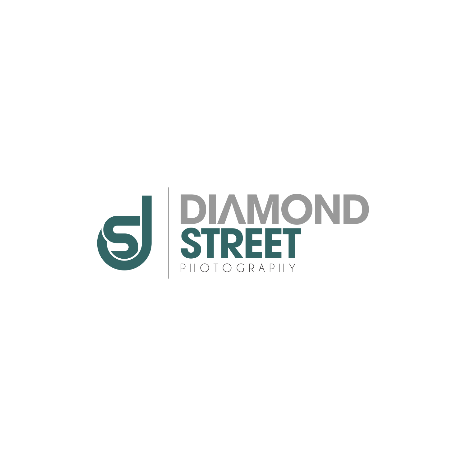 Logo Design By Hope Division Creative For DIAMOND STREET PHOTOGRAPHY