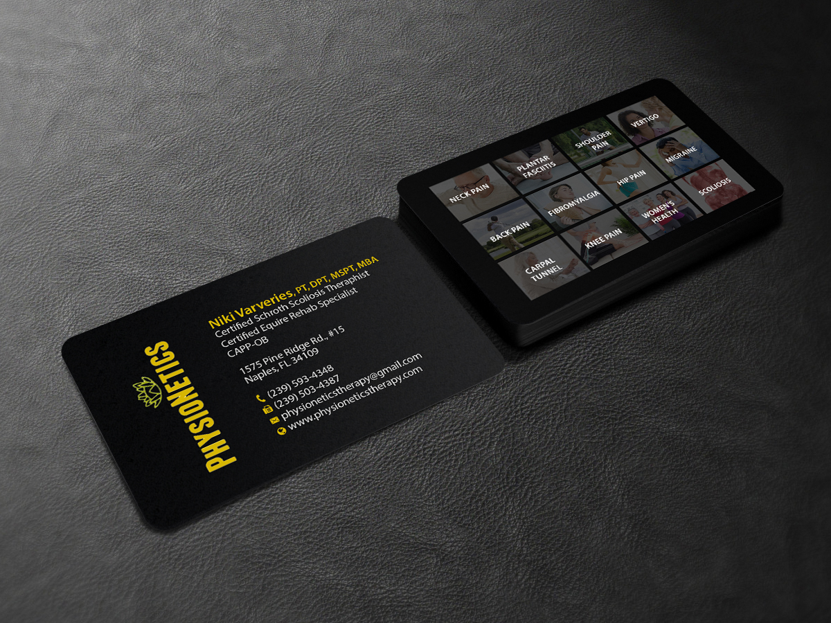 112 Elegant Business Card Designs | Physical Therapy Business Card ...
