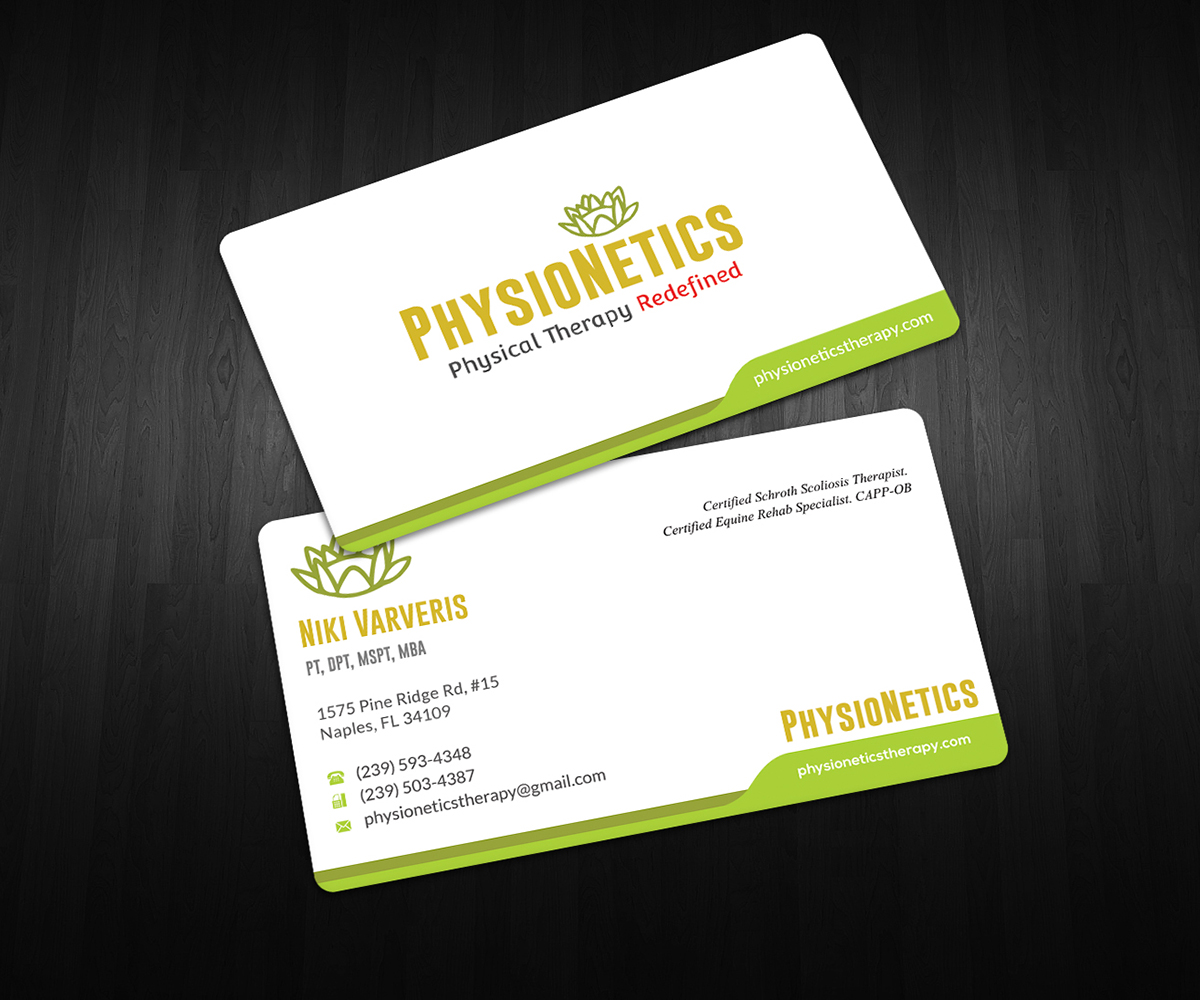 Business Card Design By Graphic Flame For Physionetics 14173517