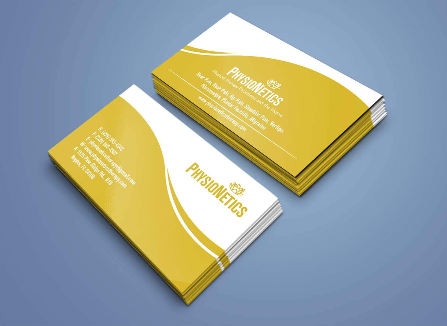 Elegant, Modern, Physical Therapy Business Card Design for ...