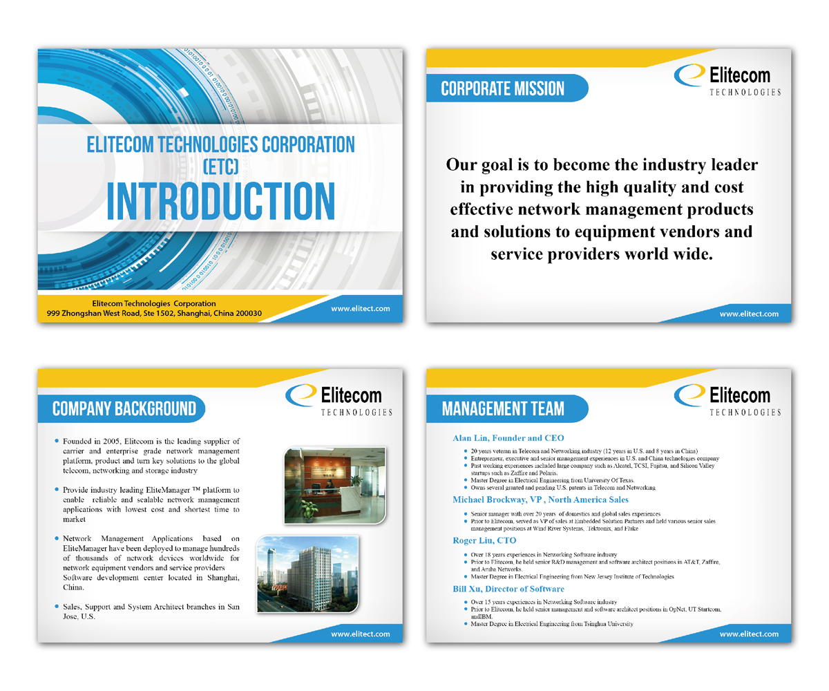 Serious, Professional, Internet PowerPoint Design for