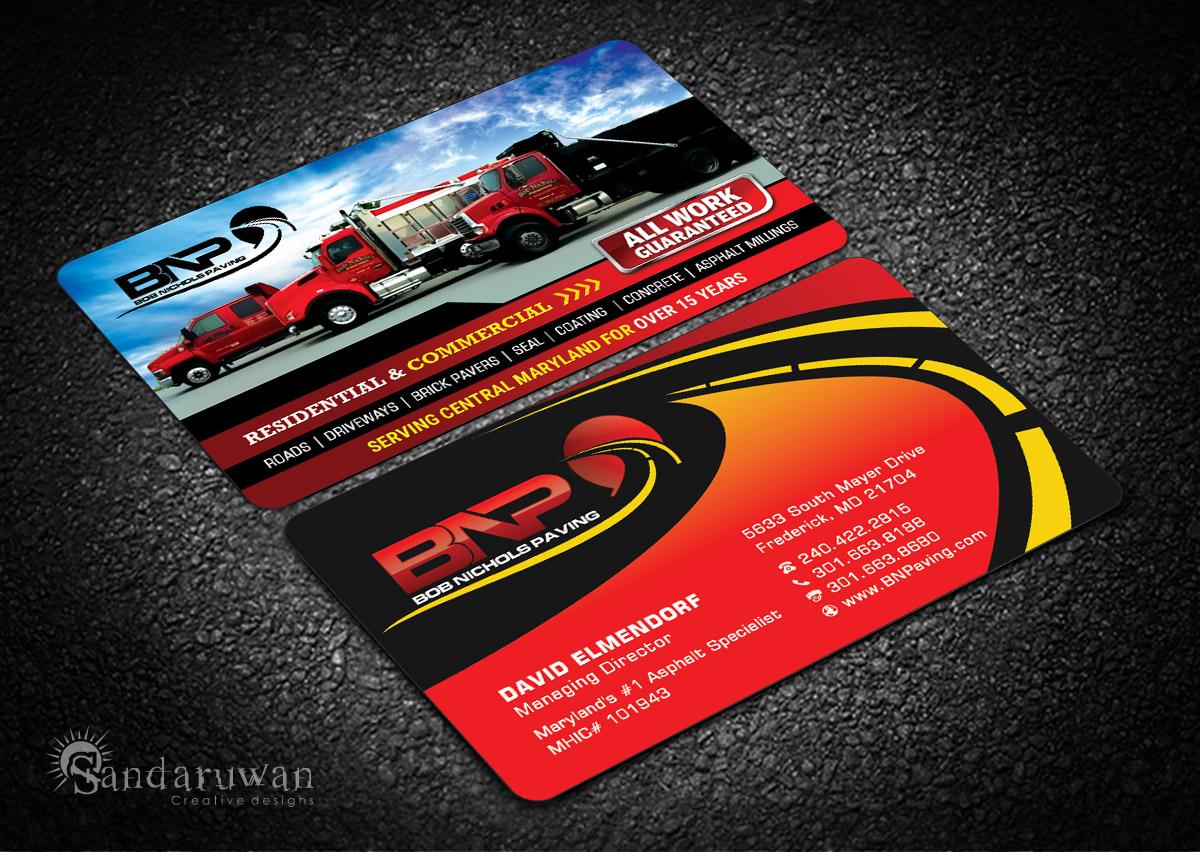 120 bold business card designs business business card design business card design by sandaruwan for bob nichols paving design 14161759 colourmoves