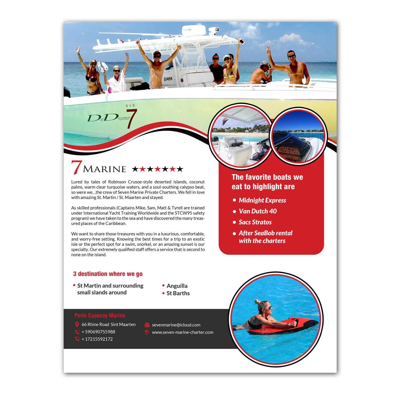 Professional, Bold, Marine Flyer Design for Caribbean marines N V