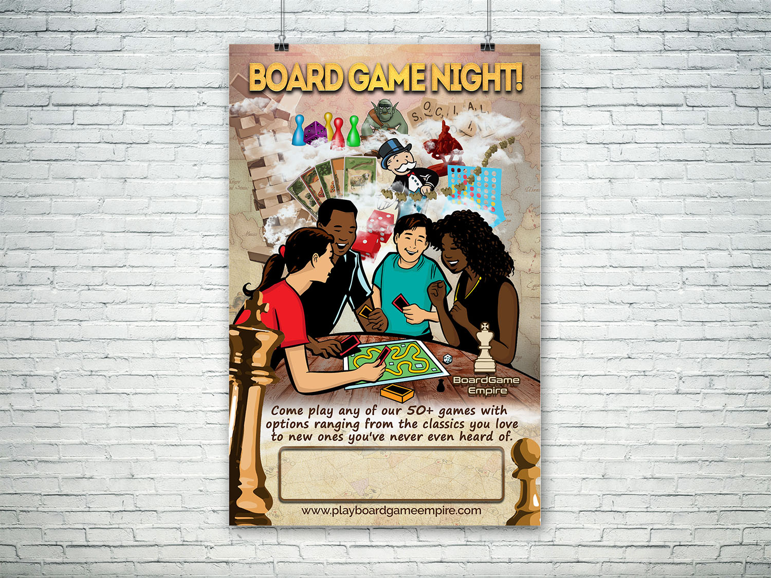 A board poster design - Poster Design By Lesaba Design For Board Game Nights At Restaurants Needs A Poster Promoting Events