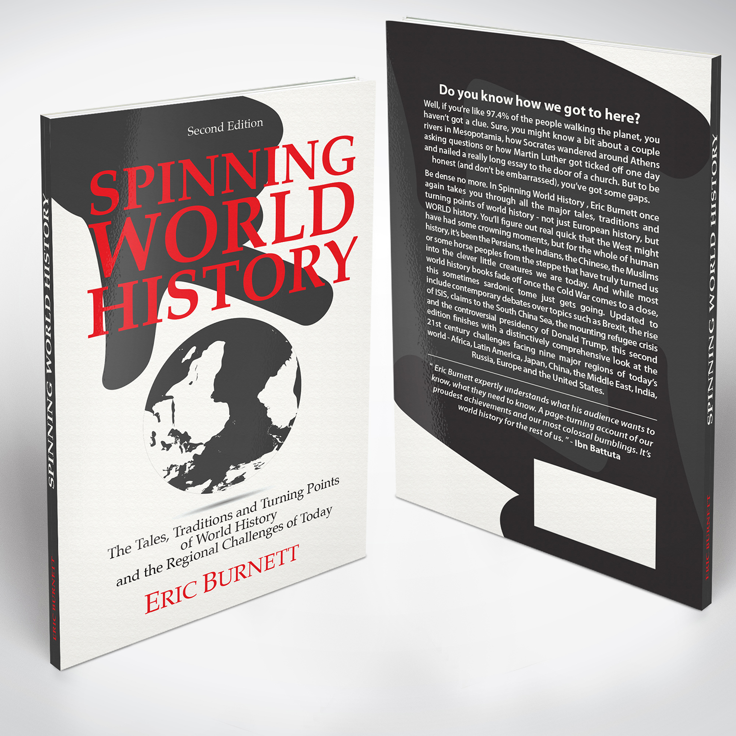 Book Jacket Design History ~ Serious modern book cover design for eric burnett by