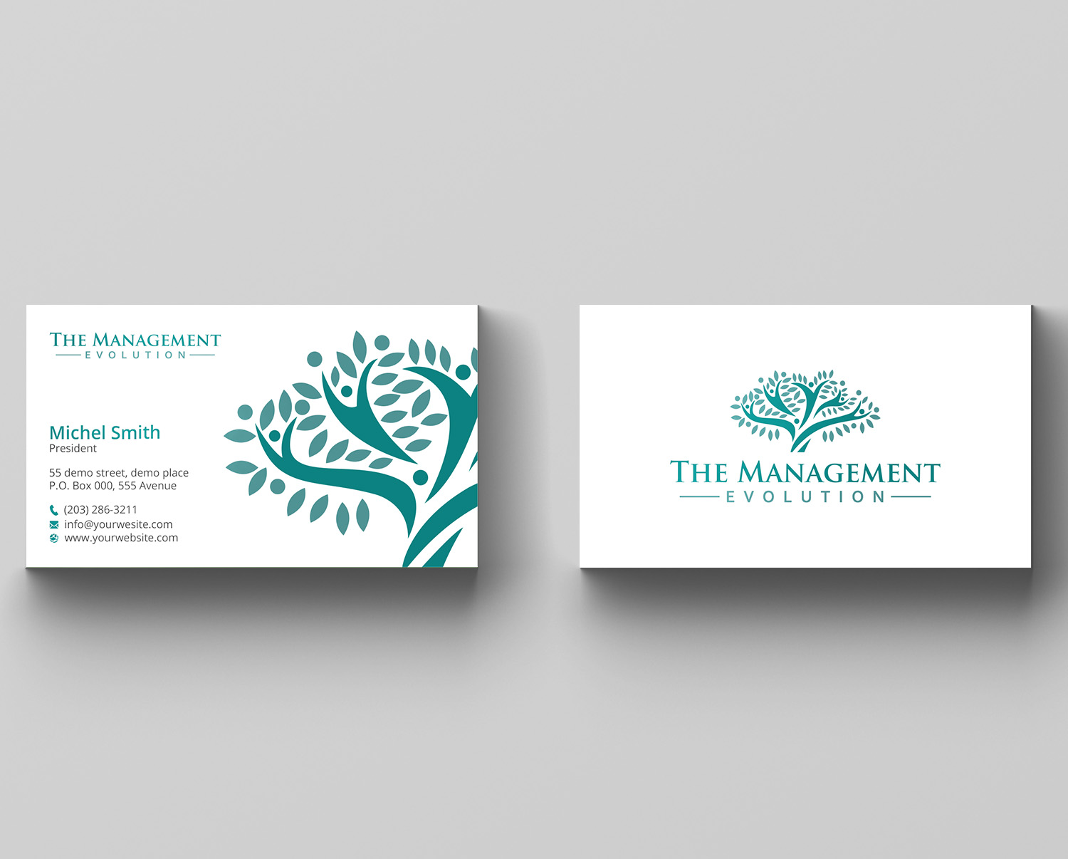 Elegant modern management consulting business card design for business card design by rightd for training tailor sl design 14272390 reheart Image collections