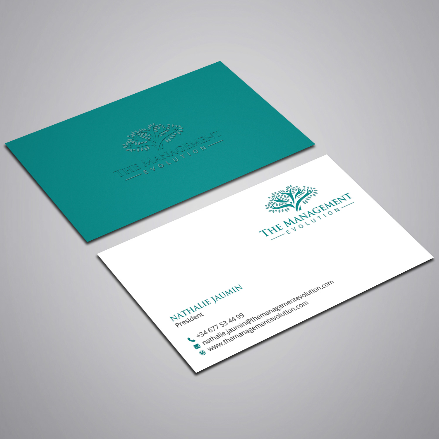 Elegant modern management consulting business card design for business card design by rightd for training tailor sl design 14272819 reheart Image collections