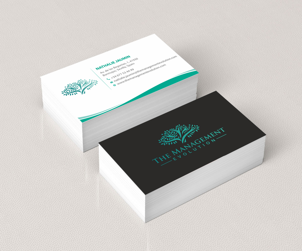 Elegant modern management consulting business card design for business card design by madhuraminfotech for training tailor sl design 14193746 reheart Image collections