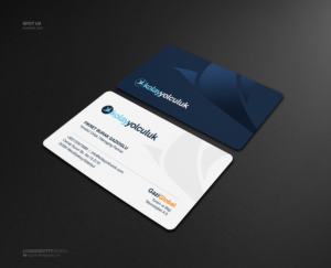 Professional modern business card design job business card brief business card design job online travel agency card design with 2 logos winning design reheart Choice Image