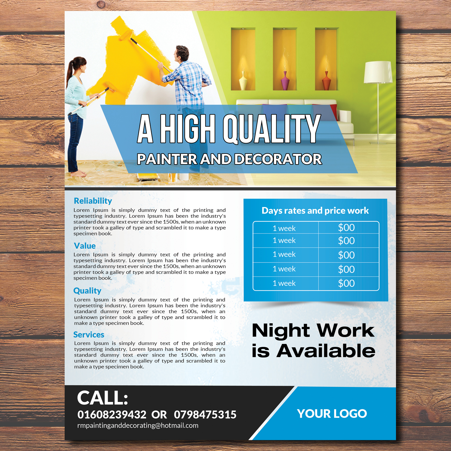 modern colorful painting flyer design for a company by hih7
