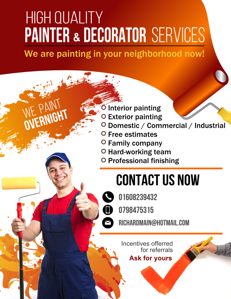 modern colorful painting flyer design for a company by angel