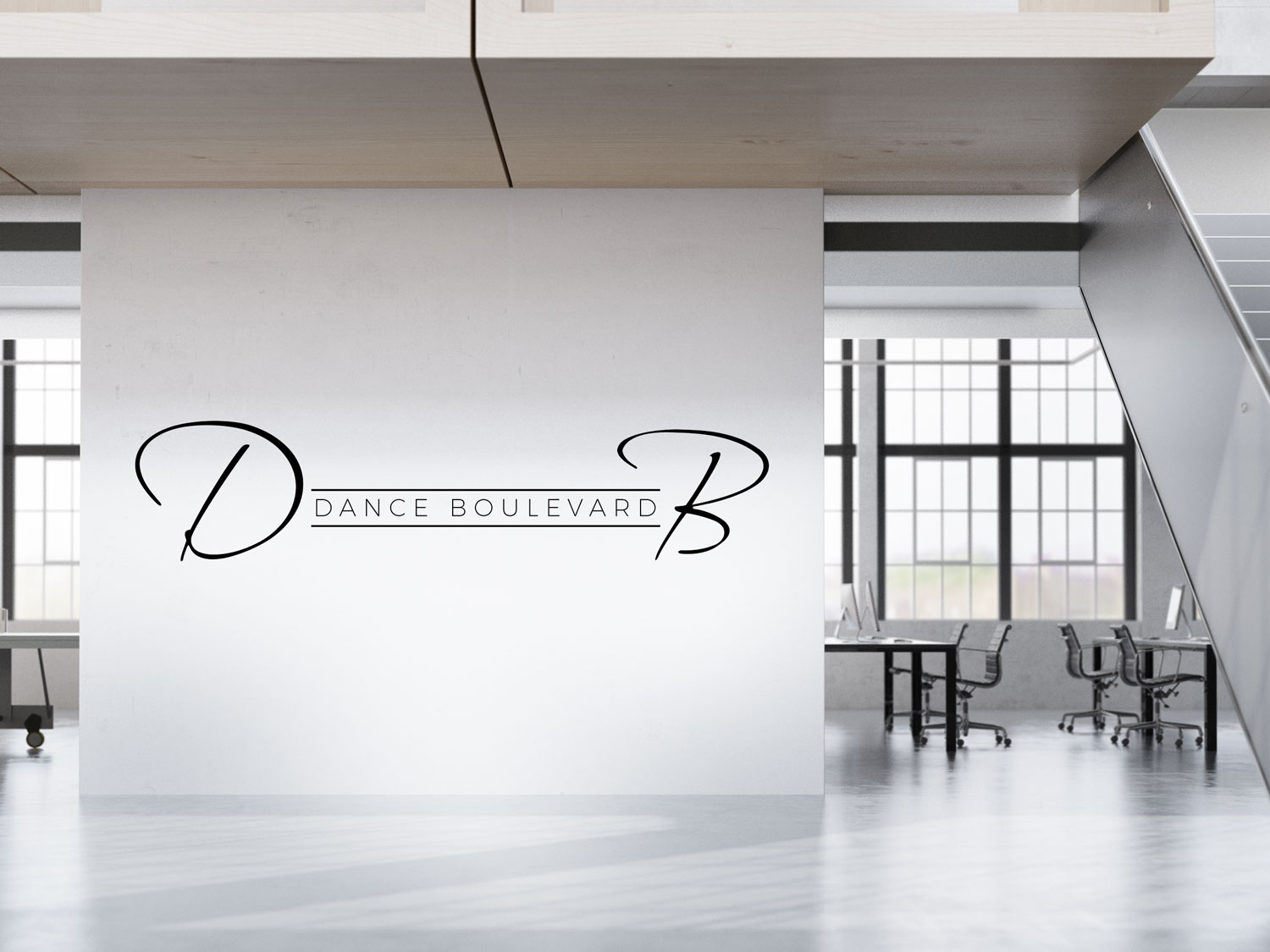 Elegant Modern Dance Studio Logo Design For The Initials Db In Bigger Letters Dance Boulevard In Smaller Letters By Gates M Design 14314421
