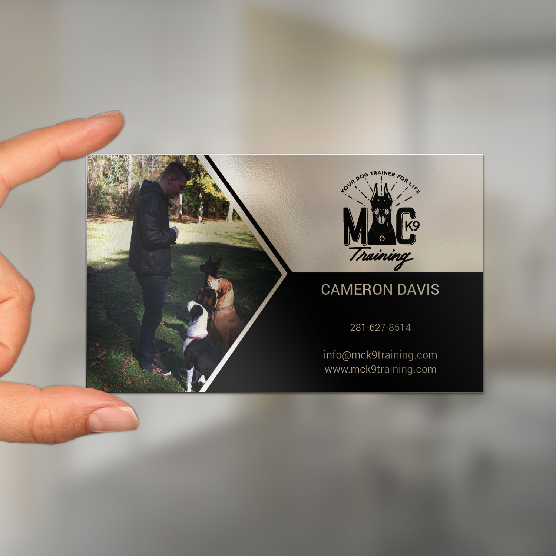 Serious, Modern, Dog Training Business Card Design for MC K9 ...
