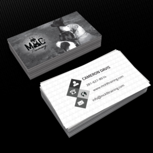 Dog training business card design galleries for inspiration page 2 need help having my business card stand out business card design by creative jiniya colourmoves