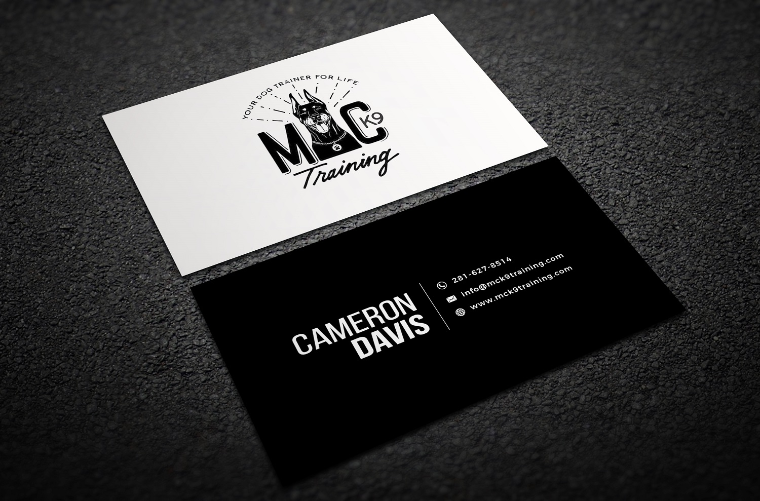 Serious modern dog training business card design for mc k9 business card design by thelogohouse for mc k9 training design 16328585 colourmoves