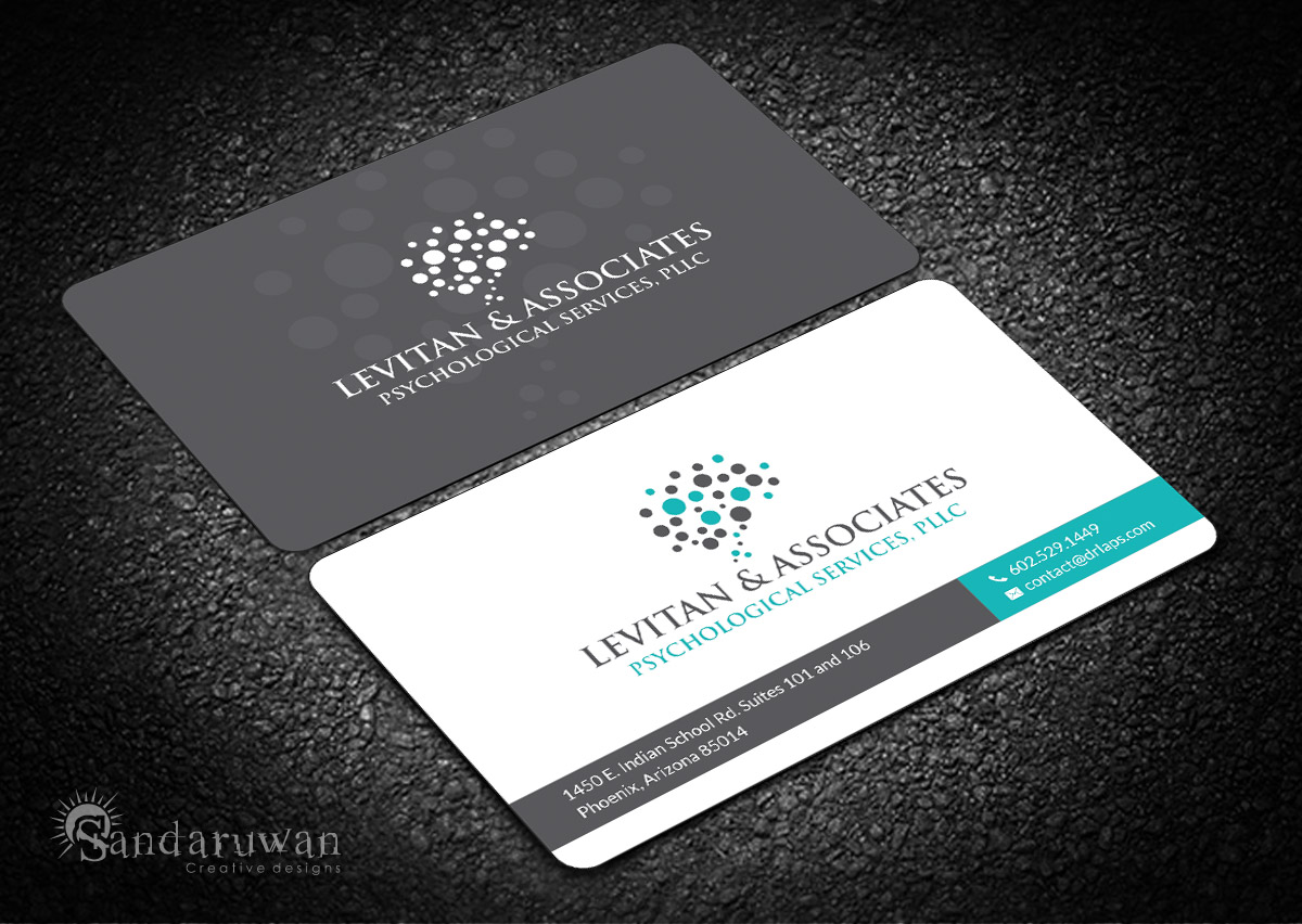 Bold Modern Mental Health Business Card Design For A Company By