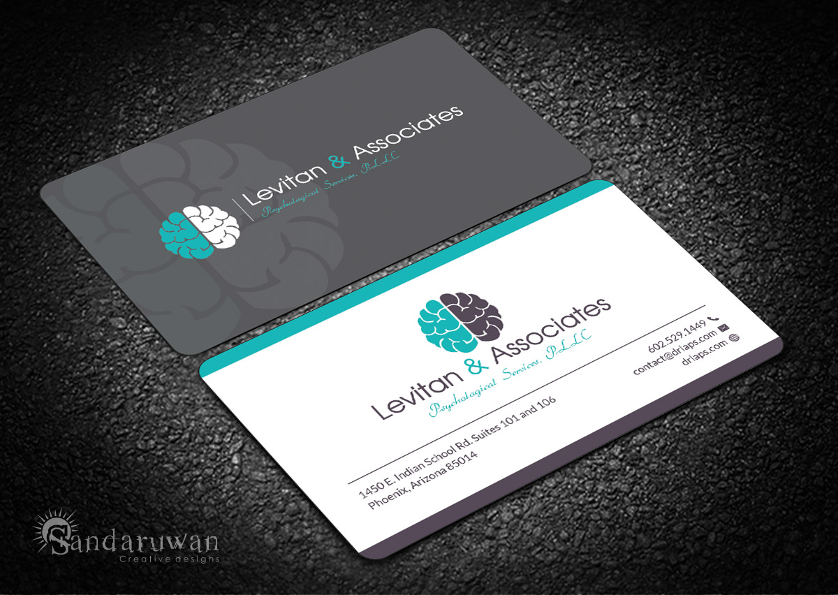 Bold modern business card design for alex levitan by sandaruwan business card design by sandaruwan for forensic psychology and polygraph needs clever catchy logo design colourmoves