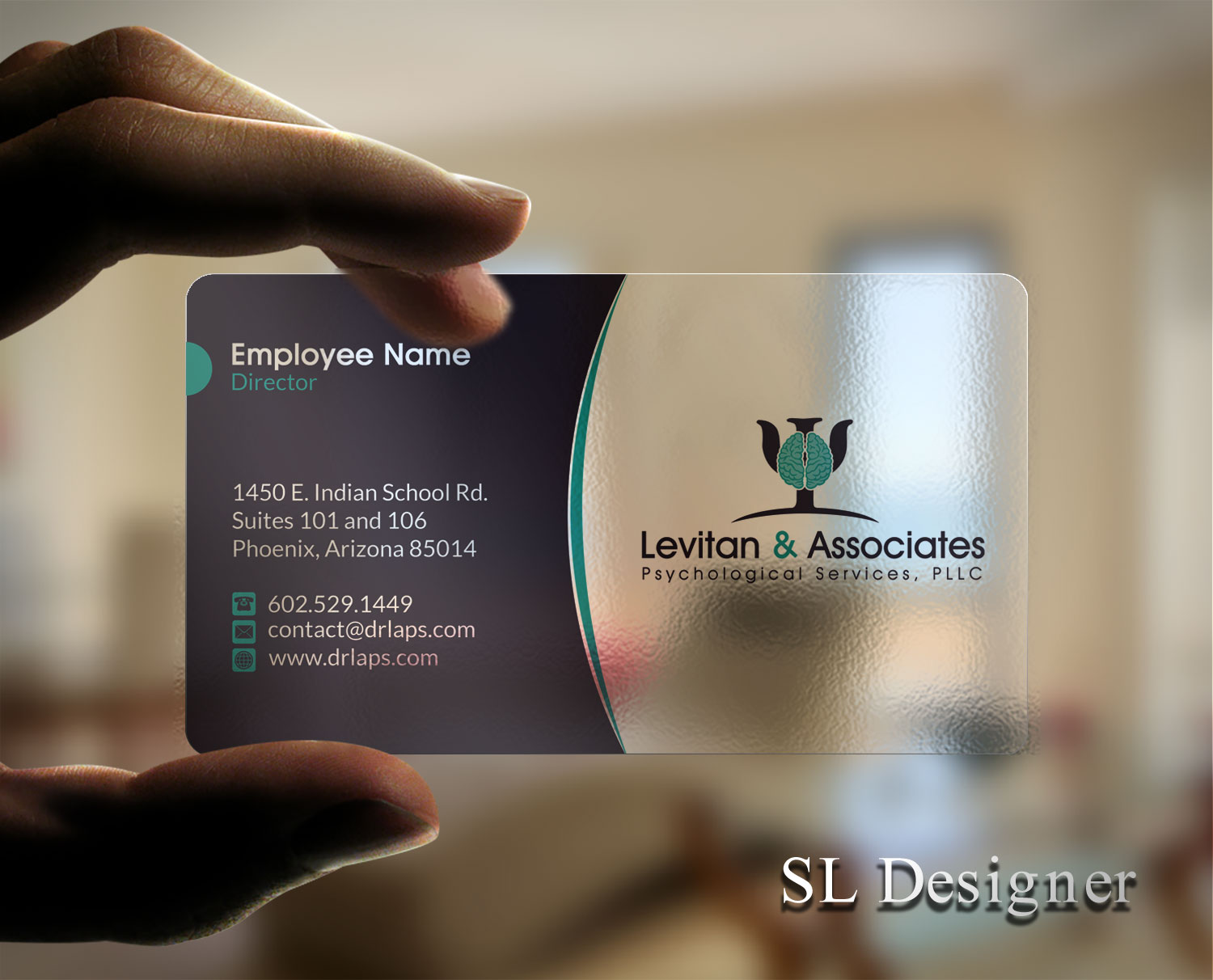 Bold Modern Mental Health Business Card Design For A Company By Sl
